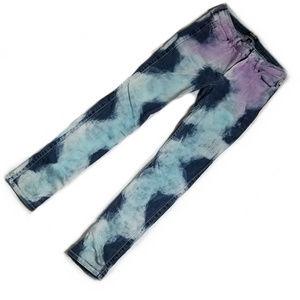 ALLEN B wavy pattern jeans
